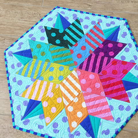 Vivid Color Is Stunning In This Table Topper Quilting Digest
