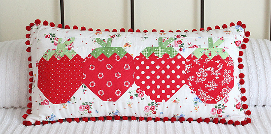 Pillow from Strawberry Social Blocks