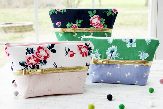 Florals and Bows Zipper Pouches