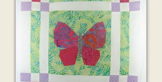 Butterfly Garden Quilt Block Pattern