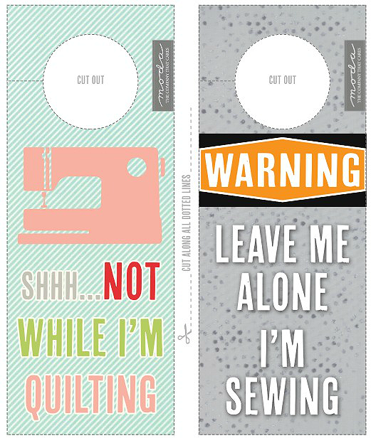 Sewing Room Door Hanger Printable