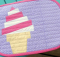 Ice Cream Swirl Mug Rug Pattern