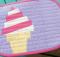 Ice Cream Swirl Mug Rug Pattern