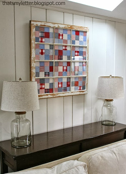 Frame Quilt Blocks with An Old Window