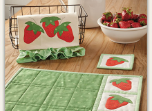 Strawberry Pickin' Kitchen Set Pattern