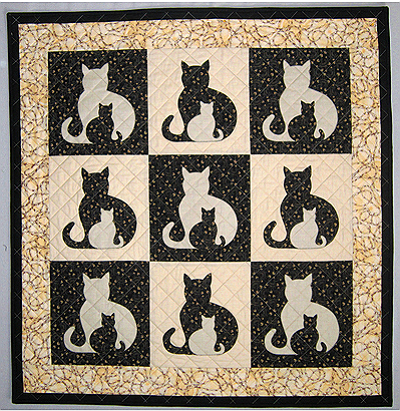 Sidekick Cats Quilt Pattern