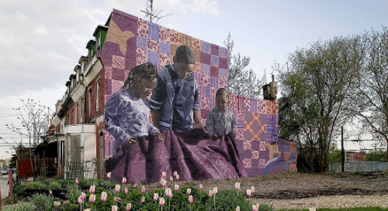 Holding Grandmother's Quilt - Mural