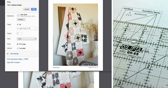 Tips for Printing PDF Quilt Patterns