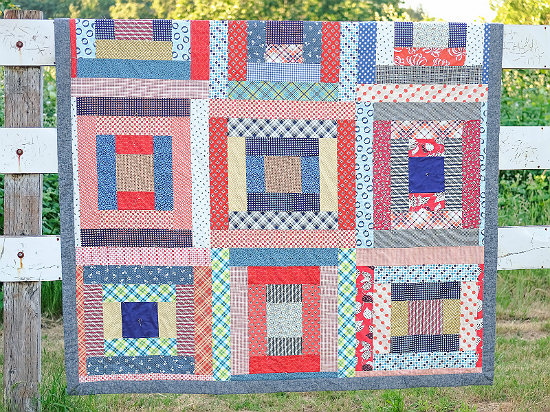 Giant Block Picnic Quilt (with picnic quilt tips)