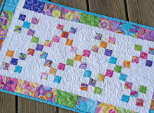 Scrappy 9 Patch Irish Chain Tablerunner Tutorial