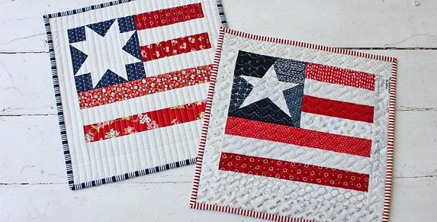 Star Spangled Mini Quilt with Two Star Block Options