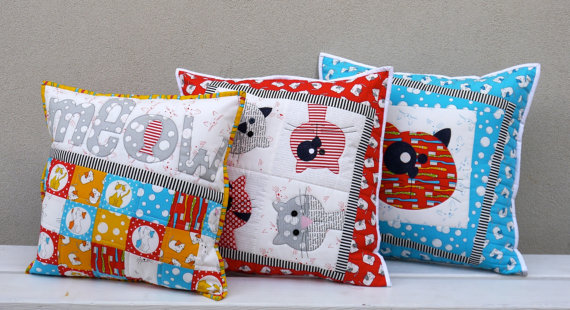 Kitty Cats Cushion Patterns