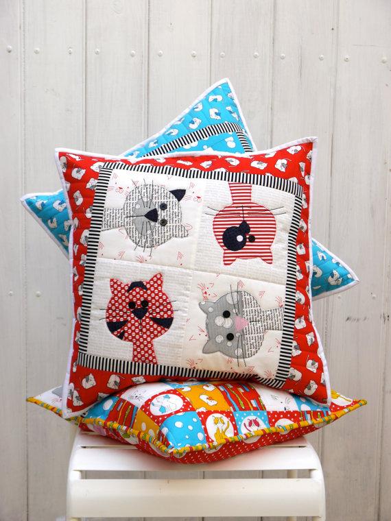 Kitty Cats Cushion Patterns