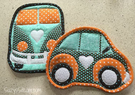 Love Bugs Hot Pads Pattern