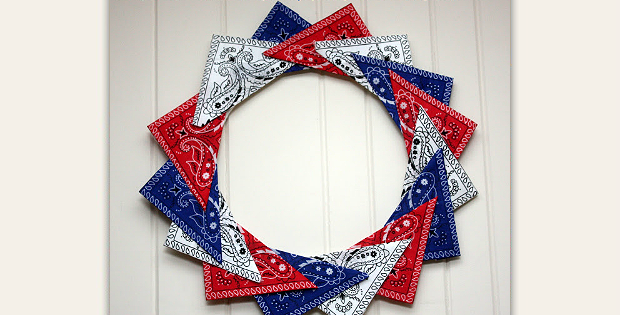 Patriotic Bandana Wreath