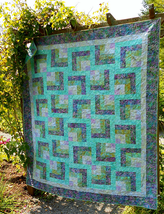 Purple Maze Quilt Pattern