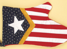 Stars and Stripes Oven Mitt Pattern