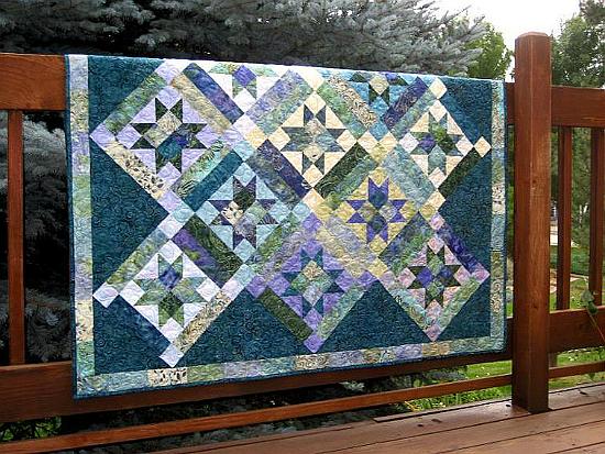 Stars On Point Quilt Pattern