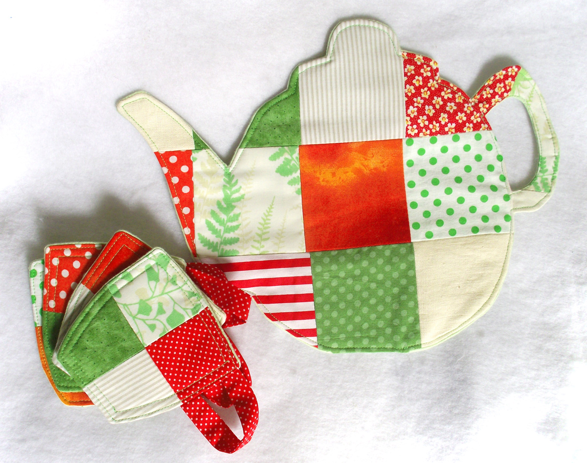 Create a Lovely Teapot Trivet and Matching Coasters