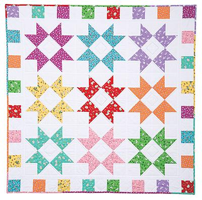 Color Burst Baby Quilt Pattern