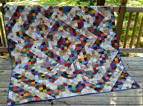 Split Nine-Patch Quilt