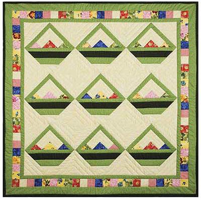 Spring Flower Baskets Quilt Pattern
