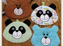 Amanda Panda and Bear Hot Pad Pattern