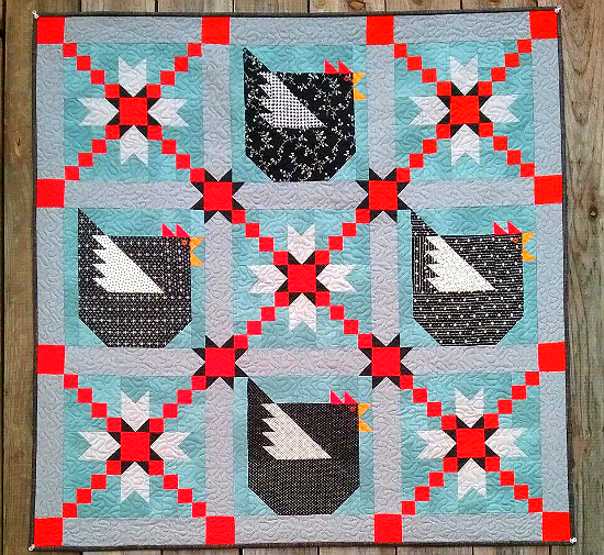 Add A Touch Of Country Charm With Cute Chickens Quilting Digest Enchanting Chicken Quilt Pattern