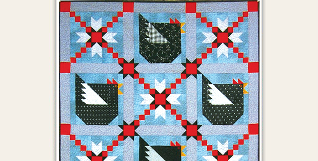 Add A Touch Of Country Charm With Cute Chickens Quilting Digest Unique Chicken Quilt Pattern