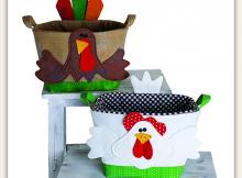 Handy Baskets - Chicken and Turkey Pattern