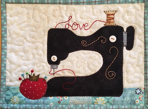 Sew in Love Sewing Machine Mug Rug Pattern