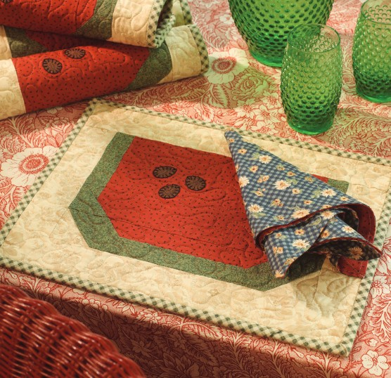 Melon Patch Place Mats and Napkins Pattern