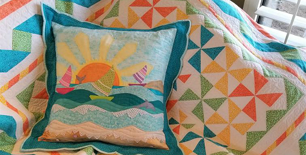 California Sunshine Pillow Sham Pattern