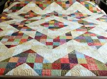 Split Nine-Patch Quilt