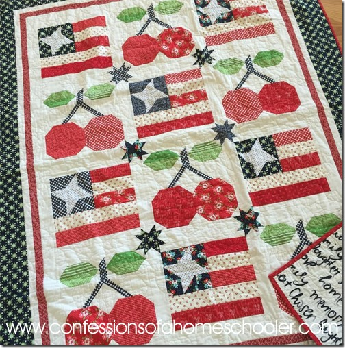 Flags and Cherries Quilt