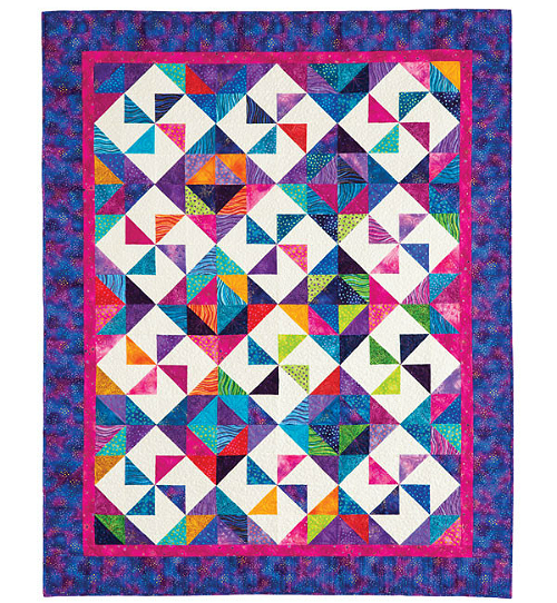 Color Whirls Quilt Pattern