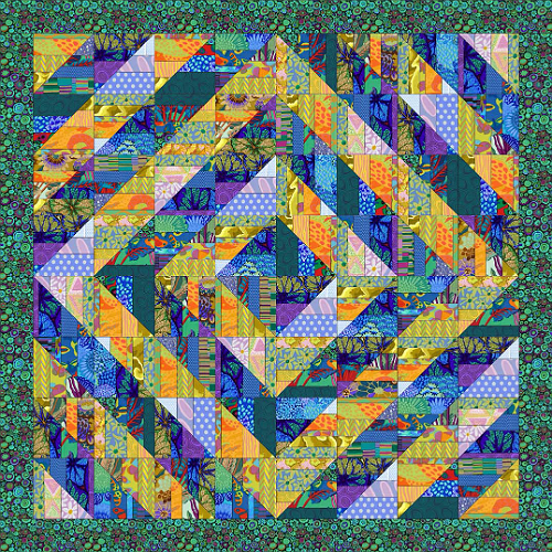 Fragmented Triangles Quilt Pattern