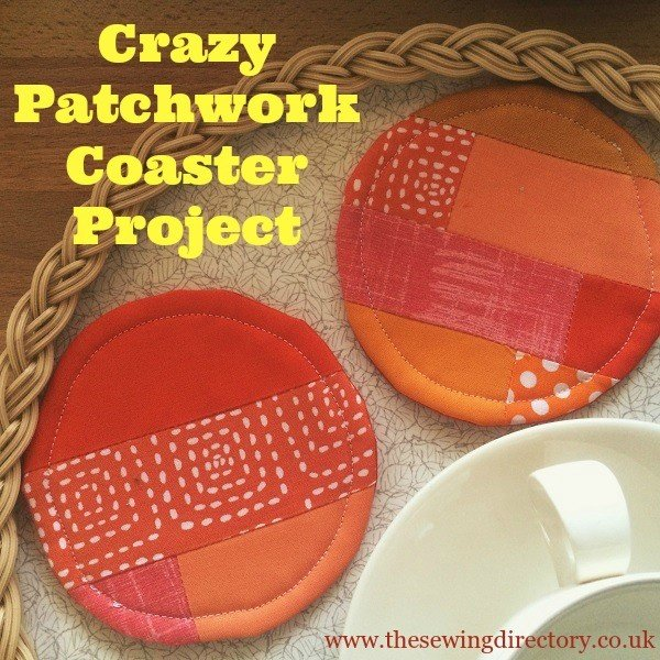 Crazy Patchwork Coasters Tutorial