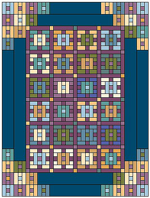 Batiks Squared Quilt Pattern