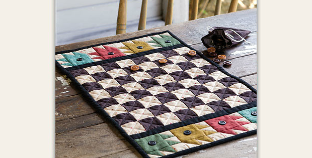 Button Checkerboard Quilt Pattern