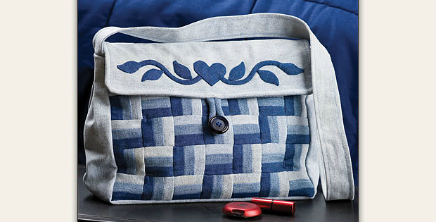 Denim Beauty Bag Pattern