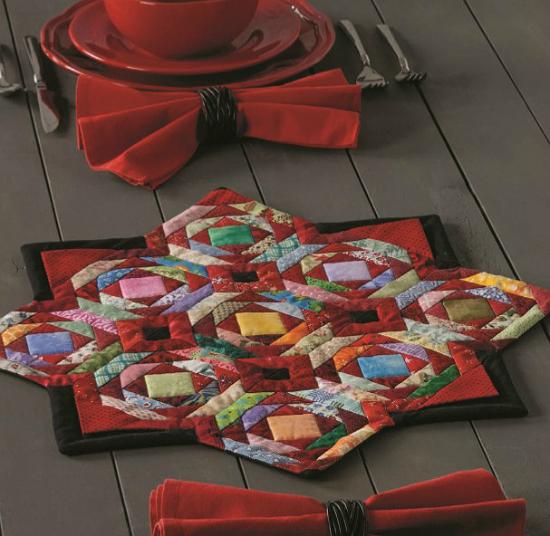 Fireside Table Topper Pattern