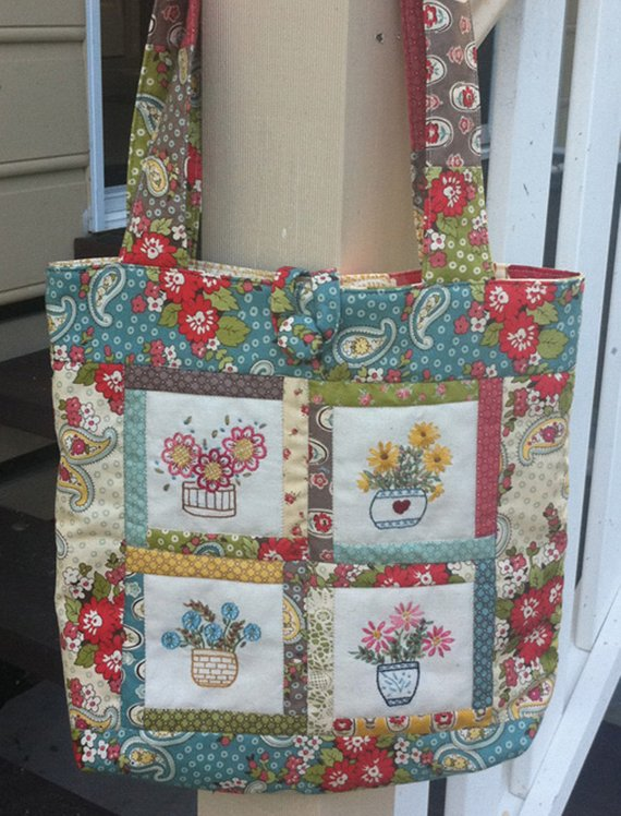 Potted Goodness Tote Bag Pattern