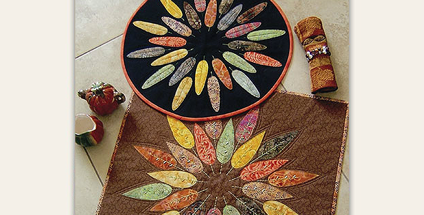 Leafy Wreath Table Topper Pattern