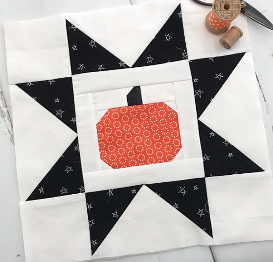 Pumpkin Star Block Pattern