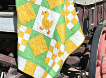 """Run, Duck, Run!"" Baby Quilt Pattern"