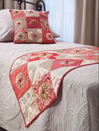 Pop of Color Bed Runner and Pillow