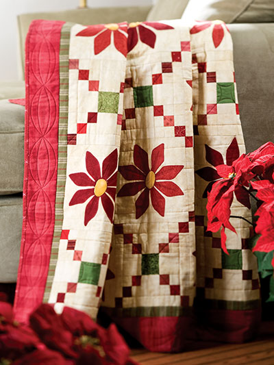 Patched Poinsettias Pattern