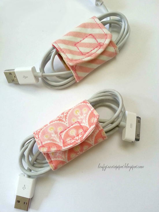 Cord Keeper from Fabric Scraps