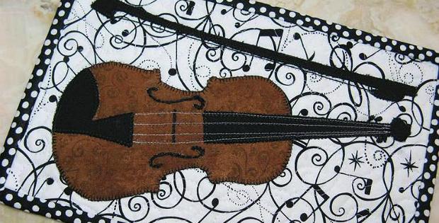 Violin Mug Rug Pattern